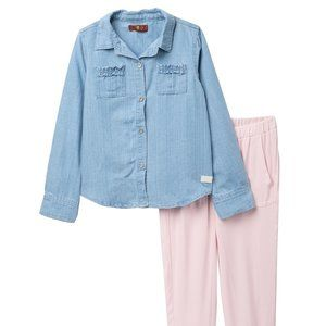 7 For All Mankind Denim Long Sleeve Top & Pants